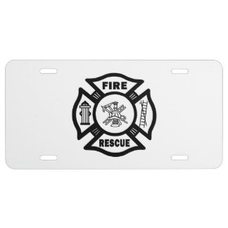 Firefighter Rescue License Plate