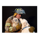 Firefighter rescue post card