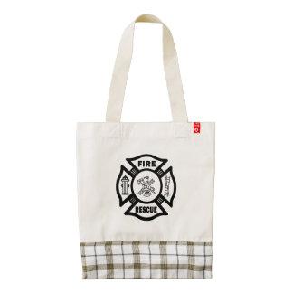 Firefighter Rescue Zazzle HEART Tote Bag