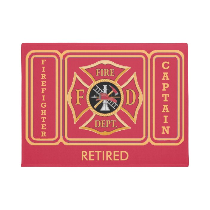 Customized Firefighter Mat Personalized Doormat for a Firefighter Great Gift for A Friend