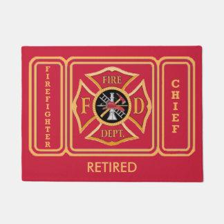 Firefighter Retired Chief Custom Door Mat