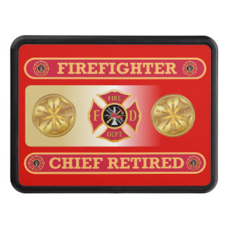 Firefighter Retired Chief's Shield Hitch Cover