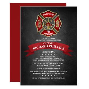 Firefighter Invitations Announcements Zazzle
