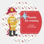 Firefighter Round Sticker