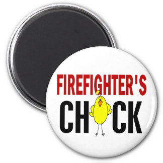 Firefighter's Chick 2 Inch Round Magnet