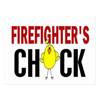 Firefighter's Chick Postcard