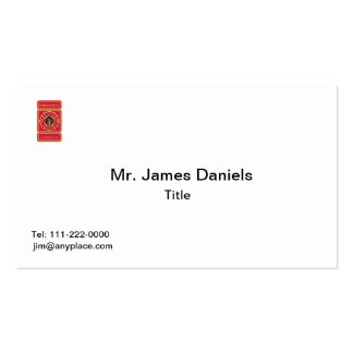 Firefighter's Grandpa Double-Sided Standard Business Cards (Pack Of 100)