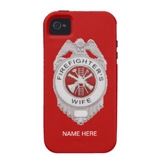 Firefighter s Wife Badge Case For The iPhone 4