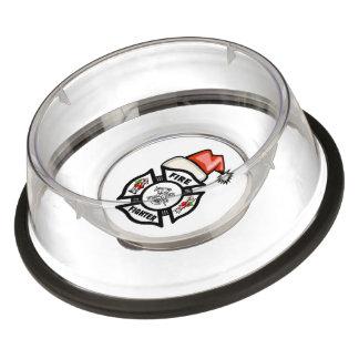 Firefighter Santa Claus Bowl