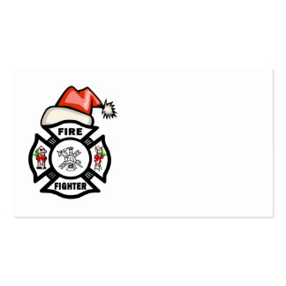 Firefighter Santa Claus Double-Sided Standard Business Cards (Pack Of 100)