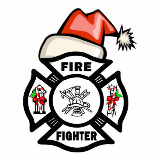 Firefighter Santa Claus Cutout