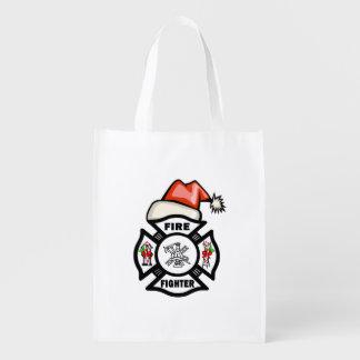 Firefighter Santa Claus Market Tote
