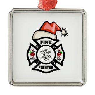 Firefighter Santa Claus ornament
