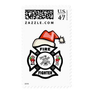 Firefighter Santa Claus Postage