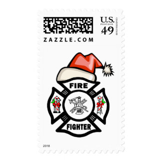 Firefighter Santa Claus Postage