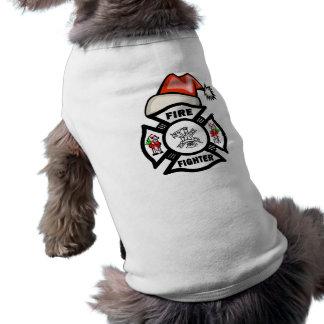 Firefighter Santa Claus Shirt