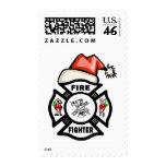 Firefighter Santa Claus Stamps