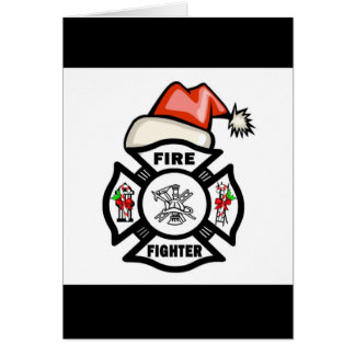 Firefighter Santa Claus Stationery Note Card