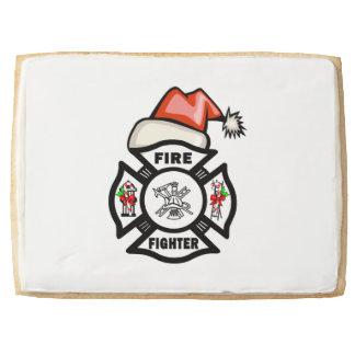 Firefighter Santa Shortbread Cookie