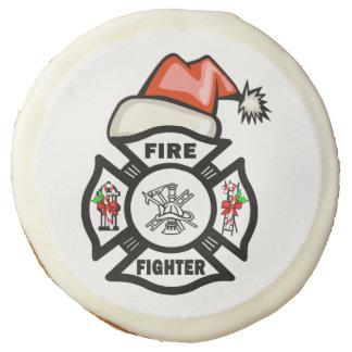 Firefighter Santa Sugar Cookie
