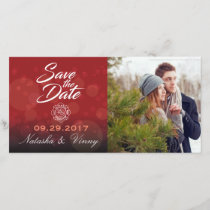 "Firefighter Save the Date 8""x4"" Photocard"