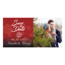 """Firefighter Save the Date 8""""x4"""" Photocard Card"""