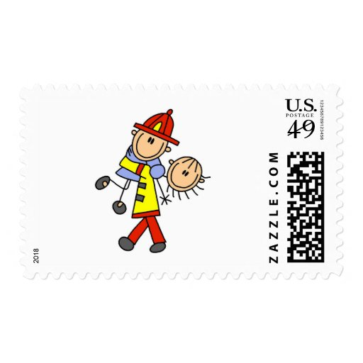 Firefighter Saving Lives T-shirts and Gifts Stamp