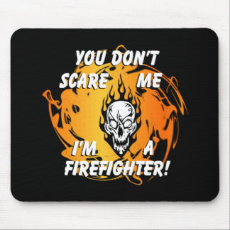 Firefighter Scare Mouse Pad