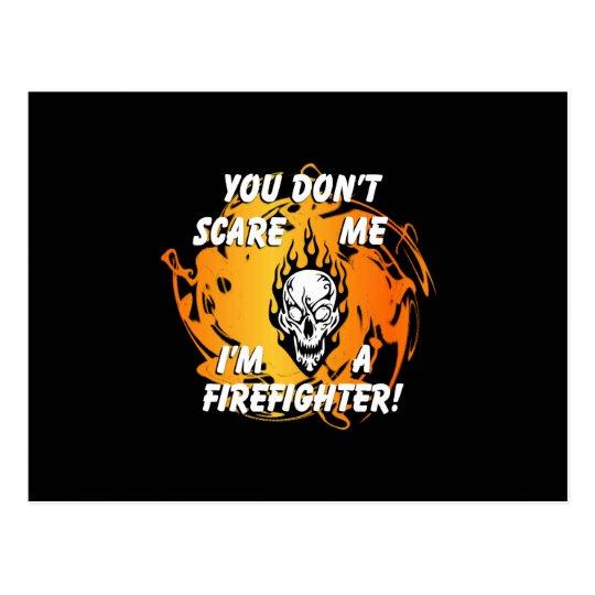 Firefighter Scare Postcard