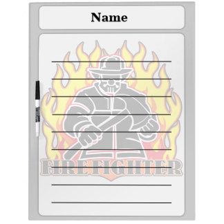 Firefighter Silhouette Dry Erase Board