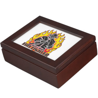 Firefighter Silhouette Memory Box