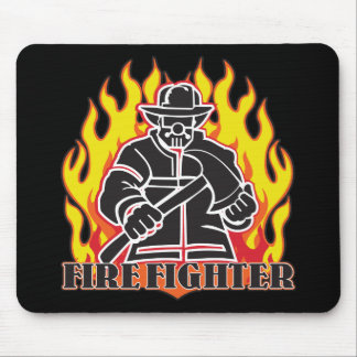Firefighter Silhouette Mouse Pad