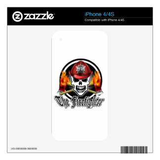 Firefighter Skull 2 and Flaming Axes Decals For iPhone 4S