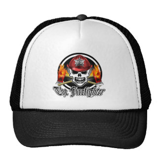 Firefighter Skull 2 and Flaming Axes Trucker Hat