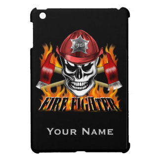 Firefighter Skull 4 and Flaming Axes iPad Mini Case