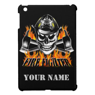 Firefighter Skull 4 and Flaming Axes iPad Mini Cover