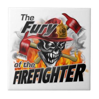 Firefighter Skull 5 and Flames Tile