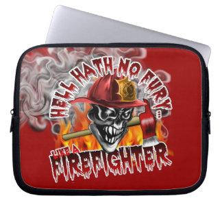 Firefighter Skull 5 with Axe Laptop Sleeve