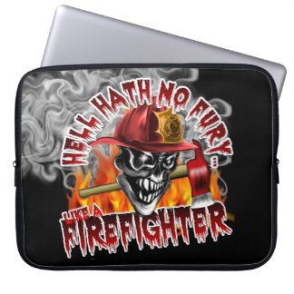 Firefighter Skull 5 with Axes Computer Sleeve