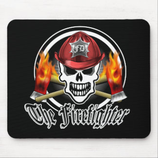 Firefighter Skull Mouse Pad