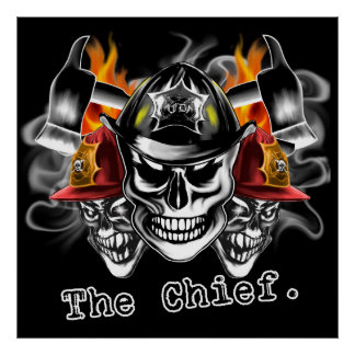 Firefighter Skull Poster: The Chief