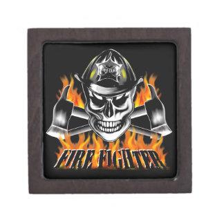 Firefighter Skull Premium Trinket Box