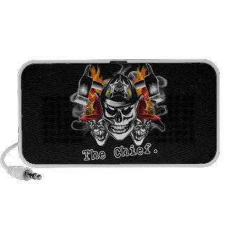 Firefighter Skulls: The Chief. Portable Speaker