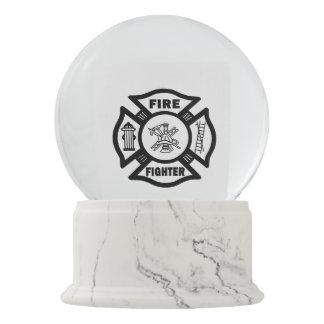 Firefighter Snow Globe