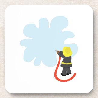 Firefighter Splash Drink Coaster