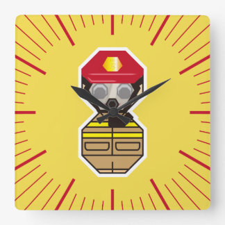 Firefighter Square Wall Clock