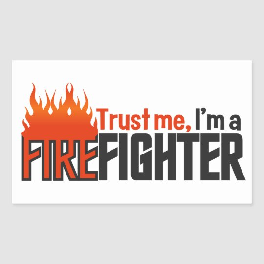 Firefighter stickers, customizable rectangular sticker