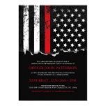 Firefighter Style American Flag Party Invite at Zazzle
