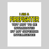 Firefighter...Superior Intelligence Postcard