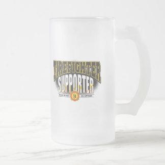 Firefighter Supporter 16 Oz Frosted Glass Beer Mug